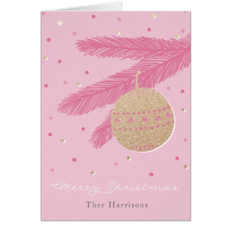 Modische rosa frohe karte