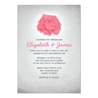 Modische rosa und schwarze Hochzeits-mit 12,7 X 17,8 Cm Einladungskarte