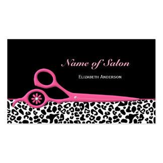 Modische rosa und schwarze visitenkarten