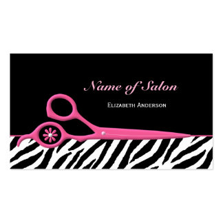 Modische rosa und schwarze visitenkarten vorlage