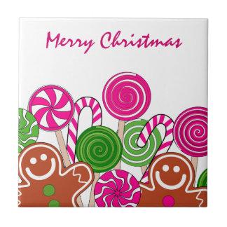 Modische rosa Weihnachtslebkuchen Keramikfliese