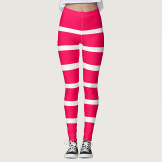 Modische rosa weiße Mädchen-Gamaschen Leggings