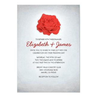 Modische rote und schwarze Hochzeits-mit 12,7 X 17,8 Cm Einladungskarte