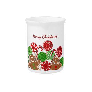 Modische rote Weihnachtslebkuchen Krug