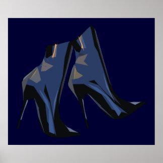 Modische Stiefel-Kunst Poster