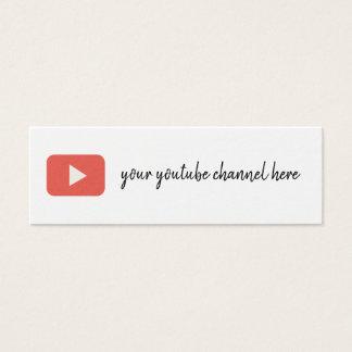 modische Visitenkarte Youtubesozialmedien