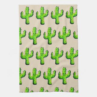 Modischer Aquarell Kawaii Kaktus Küchentuch