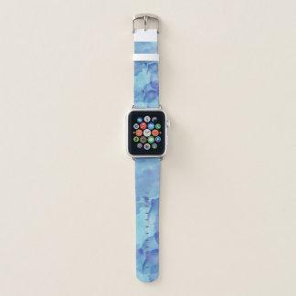 Modischer blauer Aquarell-Blick Apple Watch Armband