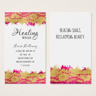 Modischer Blumenspitze-Friseursalon nagelt Visitenkarte