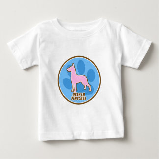 Modischer deutscher Pinscher Baby T-shirt