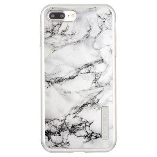 Modischer graues Weiß-und Schwarz-Marmor Incipio DualPro Shine iPhone 8 Plus/7 Plus Hülle