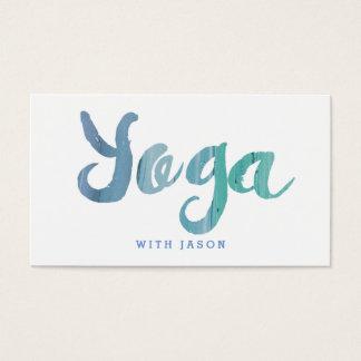 Modischer moderner blauer Yoga-Lehrer Visitenkarte