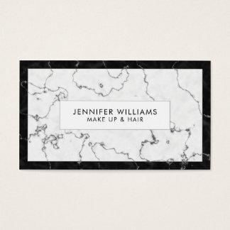 Modischer Schwarzweiss-Marmor Visitenkarten