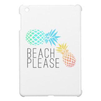 "modischer Sommer ""Strand bitte"", bunte Ananas iPad Mini Hülle"