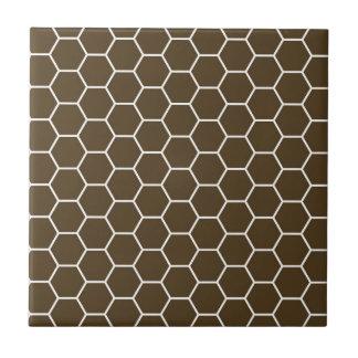 Modisches Bienenwaben-Hexagon-Muster Browns Keramikfliese