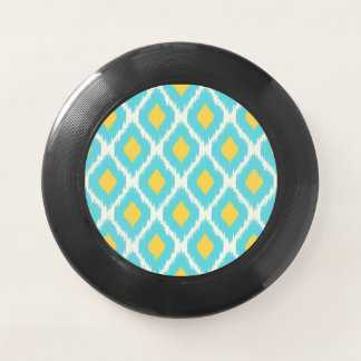 Modisches blaues gelbes aztekisches Ikat Stammes- Wham-O Frisbee