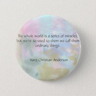 Modisches Einhorn-Aquarell Hans Christian Andersen Runder Button 5,7 Cm