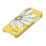 Modisches Gänseblümchen-Blumenillustration - black iPhone 5 Hüllen