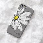 Modisches Gänseblümchen-Blumenillustration - Grau Barely There iPhone 6 Hülle