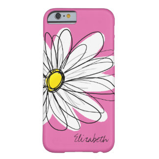Modisches Gänseblümchen-Blumenillustration - rosa Barely There iPhone 6 Hülle