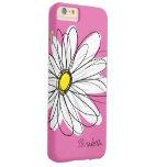Modisches Gänseblümchen-Blumenillustration - rosa Barely There iPhone 6 Plus Hülle