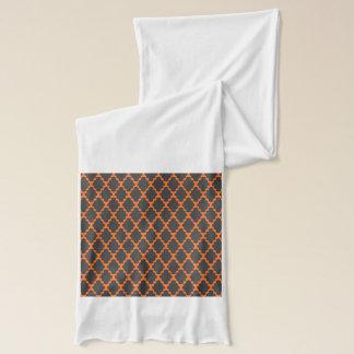 Modisches geometrisches kariertes schwarzes orange schal