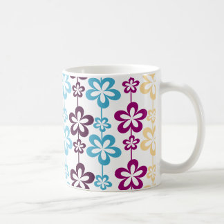 Modisches Girly Blumenmuster Kaffeetasse