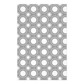 Modisches graues u. weißes Tupfen-Muster Individuelles Druckpapier