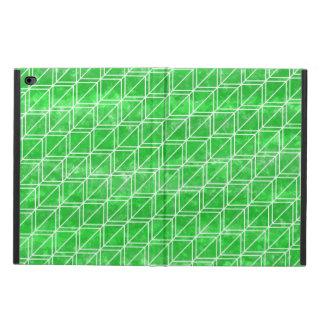 Modisches grünes Aquarell-geometrisches Muster
