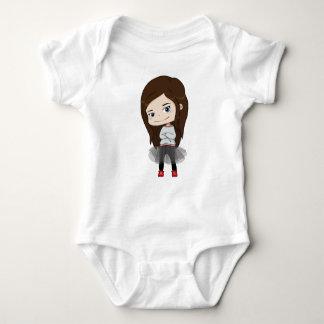 Modisches Mädchen - Baby-Bodysuit - Baby Strampler