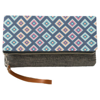 Modisches Marine-Blau-Diamant-Muster Clutch