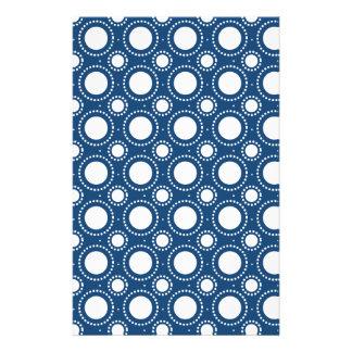 Modisches Marine-Blau-Tupfen-Muster Bedrucktes Büropapier
