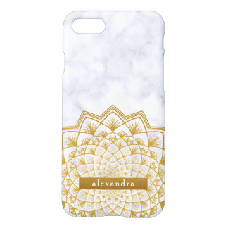 Modisches Marmor-und GoldMandala-Spitze-Muster iPhone 8/7 Hülle