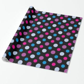 Modisches mehrfarbiges Tupfen-Muster Geschenkpapier