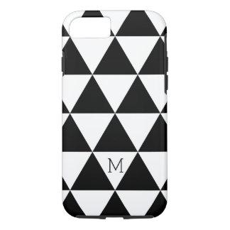 Modisches Schwarzweiss-Dreieck-Muster iPhone 7 Hülle