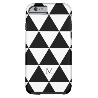 Modisches Schwarzweiss-Dreieck-Muster Tough iPhone 6 Hülle