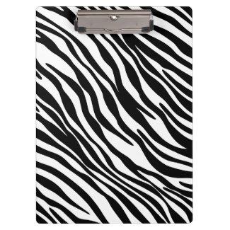 Modisches Schwarzweiss-Zebra-Druck-Klemmbrett