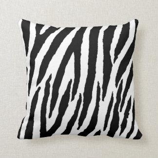 Modisches Schwarzweiss-Zebra-Muster Kissen