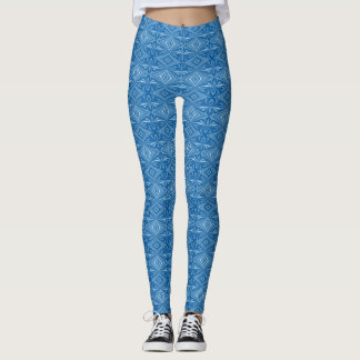 Modisches stilvolles blaues Muster Leggings