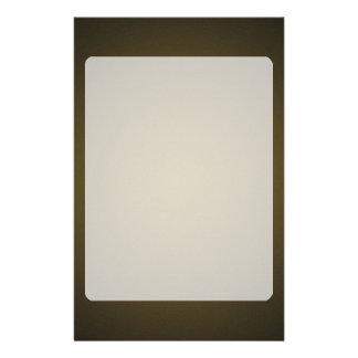 Modisches TAN und schwarze körnige Vignette Personalisierte Druckpapiere