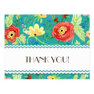 Modmoderne Blumenranunculus-Blatt-Rosen-Klammer Postkarte