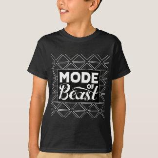 Modus von Tier-Schwarz-T-Stück Kindern T-Shirt