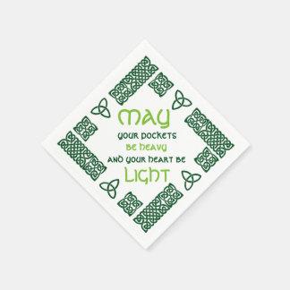 Mögen Ihre Taschen schweres irisches Grün des Papierservietten