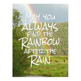 Mögen Sie den Regenbogen nach dem Regen immer Postkarte