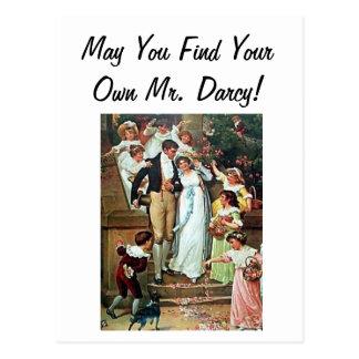Mögen Sie Ihren eigenen Herrn Darcy finden! Postkarte