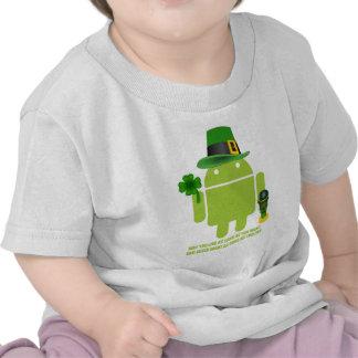 Mögen Sie leben solange Sie irischen Android woll T Shirts