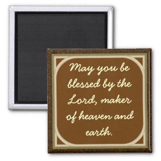 Mögen Sie vom Lord gesegnet werden Quadratischer Magnet