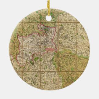 Mogg Tasche 1820 oder Fall-Karte von London Rundes Keramik Ornament