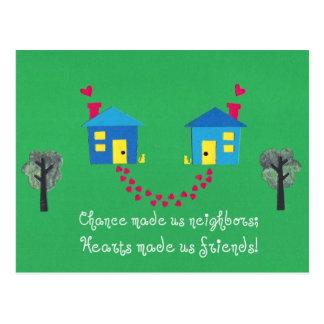 Möglichkeit machte uns Nachbarn… Postkarte