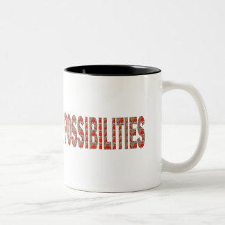 MÖGLICHKEITEN: Klugheit fasst den BILLIG Zweifarbige Tasse